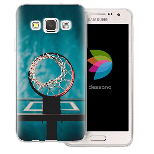 dessana Basketball Transparent Protective Case Phone Cover for Samsung Galaxy A3 (2014-2015) Cast-Net ()