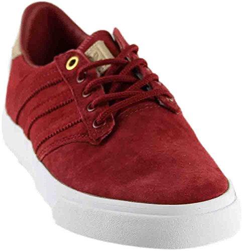 Adidas Originals Mens Seeley Premiär Klassificeras Mode Sneaker Mysterium Röd / Blek Naken / Skor Vit