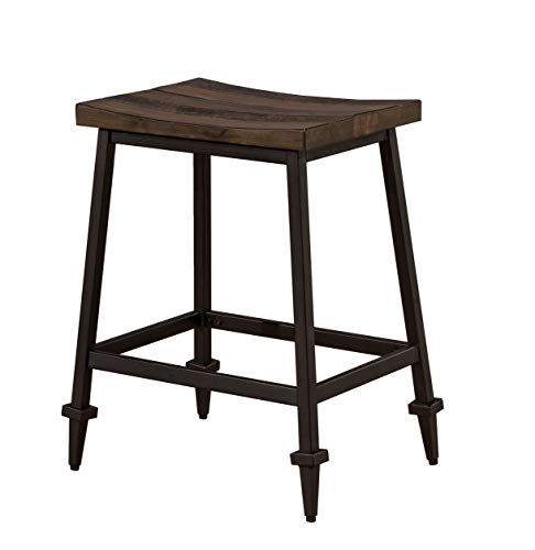 Hillsdale Furniture 4236-822 Hillsdale Trevino Saddle Counter Stools (Set of 2), Brown