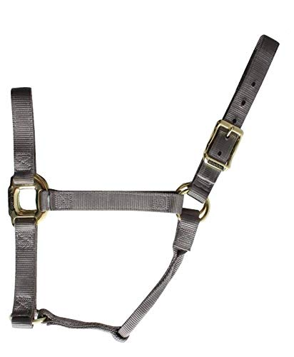 Professionals Choice Halter Solid Brass Hardware Average Charcoal NH