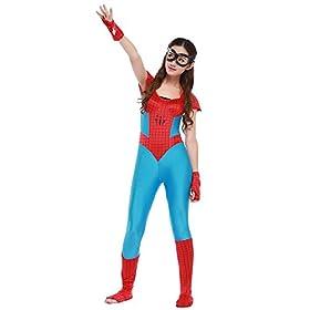 - 41sd9LvIsIL - POP Style Women's Halloween Spidergirl Cosplay One Piece Spiderman Costume