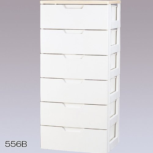 収納家具 6段 チェスト/収納ボックス リビング収納 最適 木天板付き チェスト!!!! クローゼット/押入れ収納 衣類収納 ホワイト/ペアー 6段 HG... B00YO5DRS4