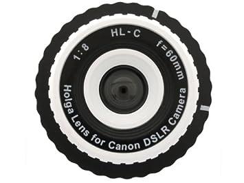 Holga objetivo para Canon Rebel T5 EOS 1200D blanco + 2,5x Tele ...