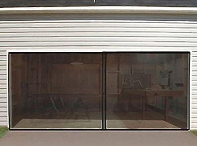 Doors & Door Hardware 2-CAR GARAGE INSTANT DOOR SCREEN w/MAGNETIC CLOSERS