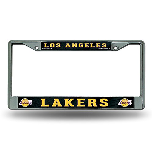 Rico Industries RIC-FC82003 Los Angeles Lakers NBA Chrome License Plate Frame by Rico Industries