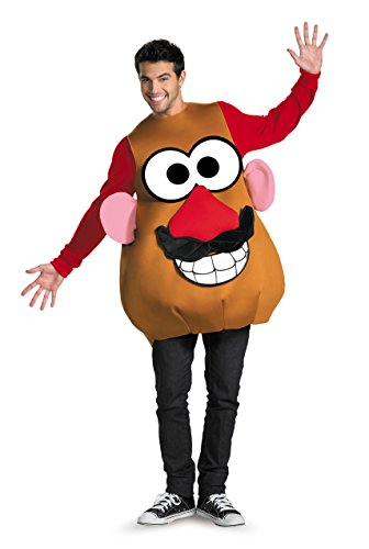 Disguise Mr./Mrs. Potato Head Deluxe Adult,Multi,XL (42-46) Costume -