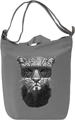 Too Cool Cat Borsa Giornaliera Canvas Canvas Day Bag| 100% Premium Cotton Canvas| DTG Printing|