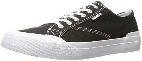 HUF Men's Classic LO Ess TX Skateboarding Shoe, Black/White, 11 US/11 M US