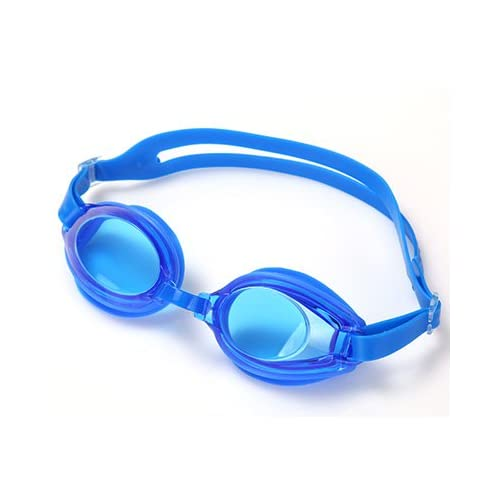 XXAICW HD étanche adulte masculin professionnel plat silicone lunettes anti buée Mesdames boîte grand enfant lunettes Natation équipement de natation , Bleu