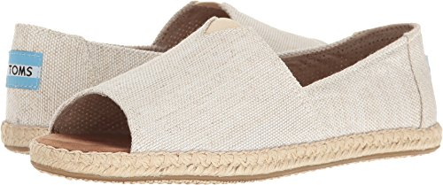 TOMS Women's Alpargata Open Toe Natural Yarn-Dye Sandal