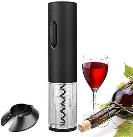 KIM TAHOE Sacacorchos Electrico, Profesional Automatico Abrelatas de Vino, Abridor Botellas de Vino con Cortador de Papel y Cable de Datos