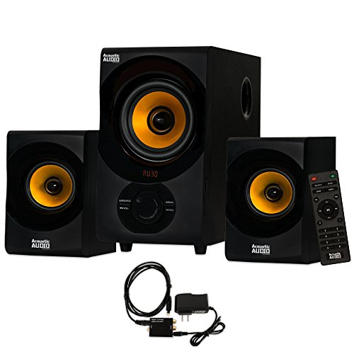 Acoustic Audio AA2170 Bluetooth 2.1 Home Speaker System with Digital Optical Input Multimedia