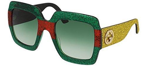 Sunglasses Gucci GG 0102 S- 006 MULTICOLOR / GREEN GOLD