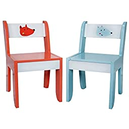 Labebe Kid\'s Furniture Activity Table and Chair Set in Wood - White Fox, for 1-5 years Old, Use for Painting/Reading/Group Play in Classroom and Home, Creative Birthday Gift for Toddlers