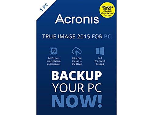 Acronis True Image 2015 w/ 250 GB Cloud Storage for 1 PC...