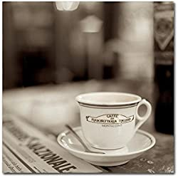 Trademark Fine Art Tuscany Caffe II by Alan Blaustein, 24x24-Inch Canvas Wall Art
