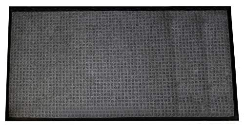 Durable Stop-N-Dry Indoor Rubber Backed Carpet Entrance Mat, 4' x 6', -