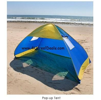 Deluxe Royal Blue Pop Up Tent Beach Cabana Tent Family Sun Shade Portable Shelter with Windows & Amazon.com: Deluxe Royal Blue Pop Up Tent Beach Cabana Tent Family ...