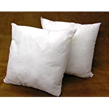 """(2 Pack) Pillow Inserts 18"""" x 18"""" Square -100% polyester fibre filled"""