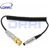 DRRI BNC to Lemo 5 pin male Coiled Cable ARRI ALEXA TIME CODE Cable for SOUND DEVICES