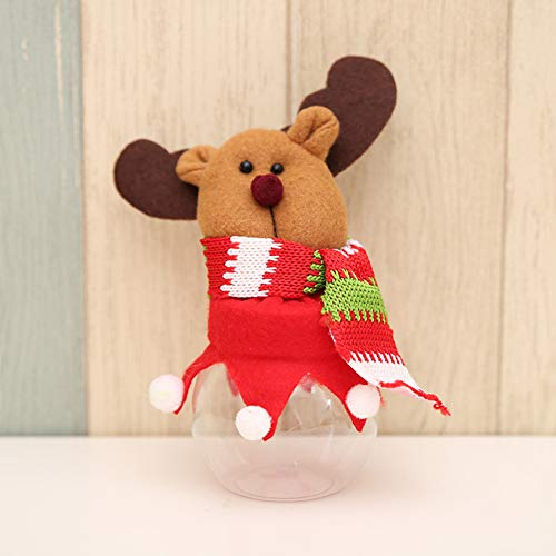 HEART SPEAKER Christmas Snowman Santa Reindeer Candy Box Jar Biscuit Sweetie Container Party Decor 5# by HEART SPEAKER (Image #3)