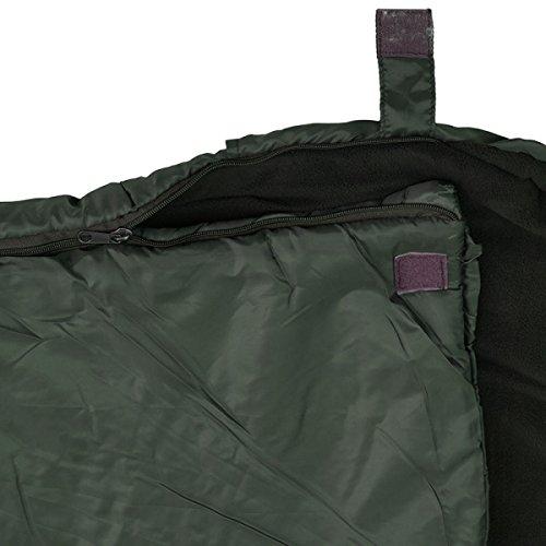 G8DS/® 4 Jahreszeiten Schlafsack 210 x 95 x 7cm Oliv Camping Outdoor Zelten