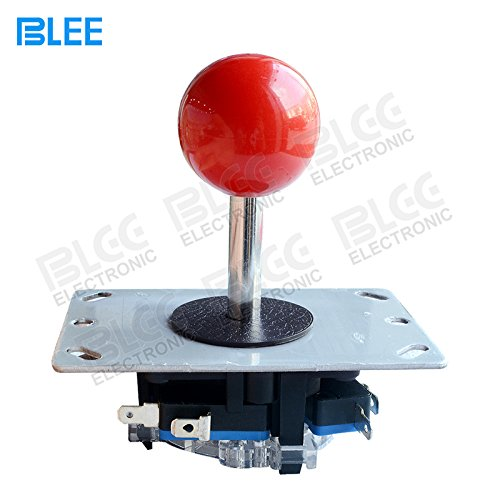 (BLEE Red Ball Arcade Joystick Stick DIY Control Joystick with Microswitch 4 & 8 Way Fighting Stick Parts for Arcade Video)