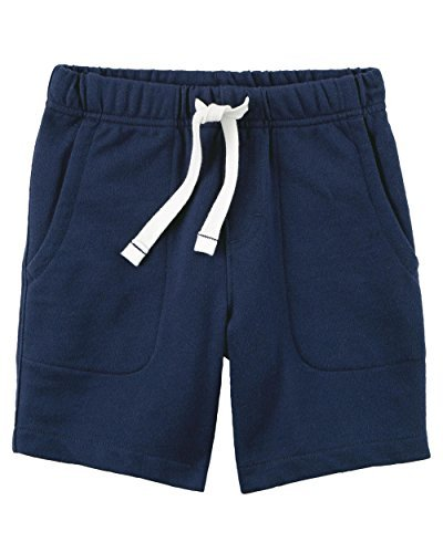 (Carter's Little Boys Pull-on French Terry Shorts - (6, Navy Blue))