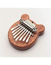 8 Key Mini Kalimba Exquisite Finger Thumb Piano Marimba, Exquisite Curved Keys Accessory Toy, for Kids, Adults and Beginners (D)