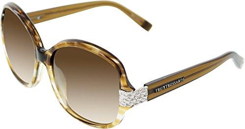 Trussardi Women's 12826 BR32K Brown Round Sunglasses - Trussardi Sunglasses
