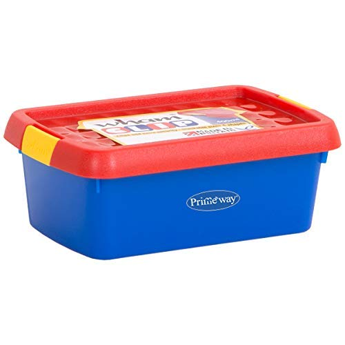 Primeway® Wham Clip Box Small Multipurpose Storage Container with Lid, 400 ml, Multi Color