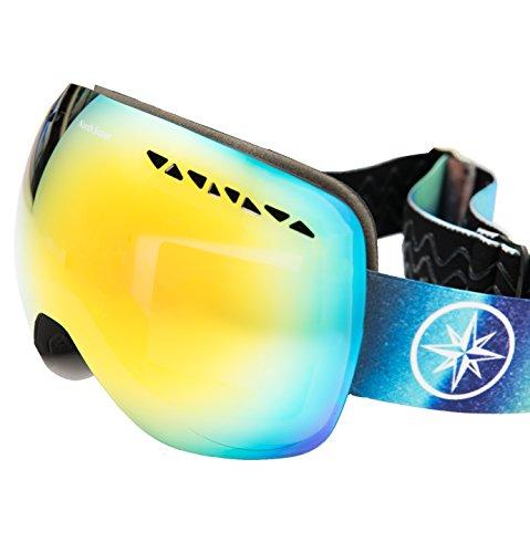 Buy cheap #1 Ski Snowboard Goggles PRO - FLASH SALE 50% Discount - Frameless Spherical Lens Snow Goggles For Men & Women 100% UV Protection.