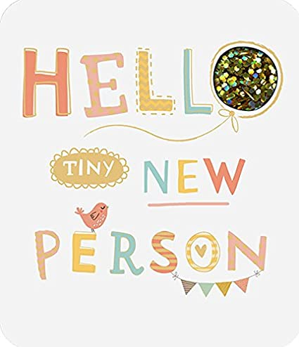 Amazon tiny new person new baby born congratulations luxury tiny new person new baby born congratulations luxury greeting card m4hsunfo