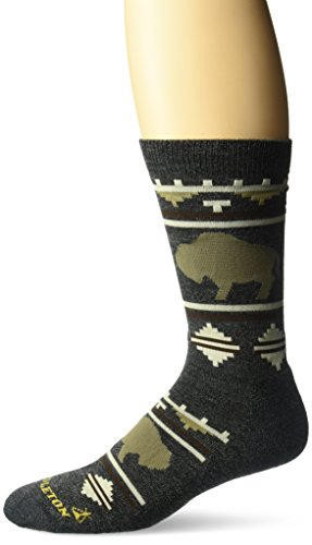 - Pendleton Camp Crew Socks, Roaming Bison Charcoal, Medium (Fits Women's Shoe Size 6-10/ Men's Shoe Size 5-9)