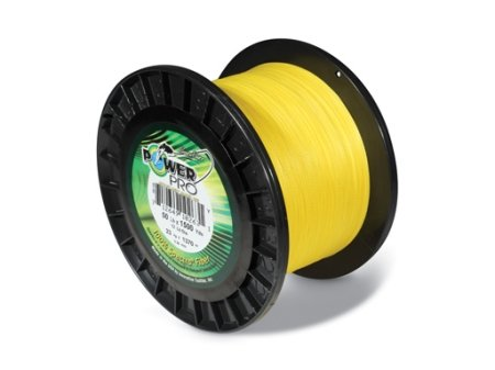 - PowerPro Hi Viz Yellow 10lb Test 1500yd Spool #2100101500Y