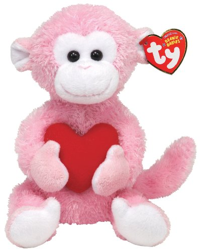 Monkey Mine Love (Ty Beanie Baby Mischief - Monkey w/Heart)