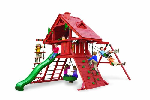 - Sun Palace Playset w Turbo Tire Swing & Extreme Wave Slide