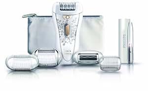Philips - Depiladora Hp657610, Recargable, Aplicador De Frio, Luz, Pinzas