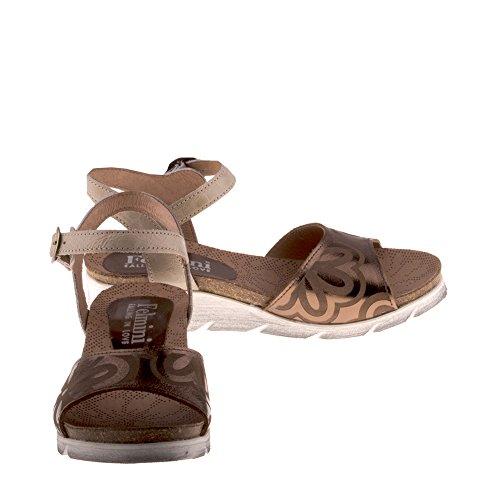Dorini B088 Femme Cuir Véritable Sandales Compensées Felmini Chaussures en Amour Tomber avec Multicolore Multicolore 5Ban5ZqwYC