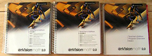 enVisionMATH 2.0 Math 2016 Common Core Teacher Edition Package Grade 6 (Contains 2-volume Teacher's Edition and Teacher's Edition Program Overview)
