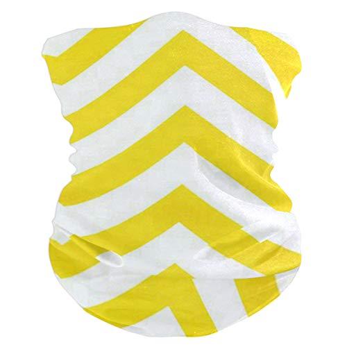 Yellow ChevronBalaclava Womens Headband Scarf Mens Bandana,Muffler,Neck Gaiter,Magic,Wristband Neckerchief ()