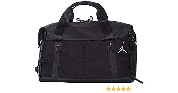 a5d6c5f3980c Amazon.com  Jordan Airborne Weekender Duffle Bag (Black)  Sports   Outdoors