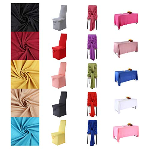 Polyester Stretch Jersey Fabric Apparel & Marquee Events Material, Table Chair Cover Drape & Back Drop Decoration. Semi Sheen, Bi Stretch Cloth for Swimwear and Activewear. 21 Colours, 160cms Wide.