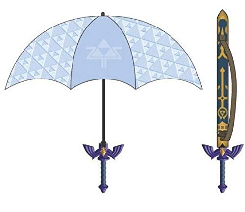 Force Umbrella - Bioworld Merchandising / Independent Sales Tri-force Zelda Sword Umbrella Standard