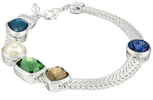 Napier Women's Multi-Colored Stone Flex Link Bracelet