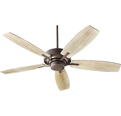 """Quorum 64525-8641 SOHO 52"""" 5-Blade Indoor Ceiling Fan in Oiled Bronze"""