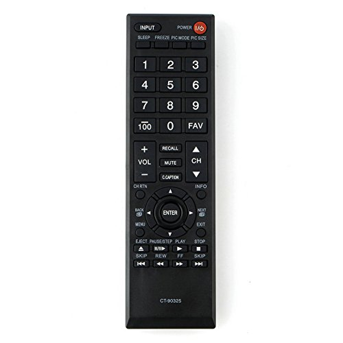 Replacement Remote Control for 32C120U 32L1400U 39L22U 50L1400U 50L2400U Toshiba TVs (Tv Toshiba 32c120u)