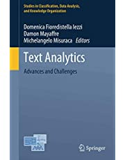 Text Analytics: Advances and Challenges