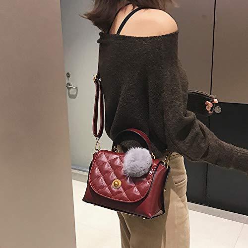 Saoga Elegante Salvaje Portátil Hombro Rojo Bolso Bolsa Versión Coreana De Mensajero Femenina Pequeño Rombal La Azul Vino Retro pprwdOSqv