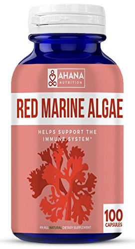 (Ahana Nutrition Red Algae Capsules – Natural Antioxidant Supplement for Aiding Blood Circulation and Immune System Support (450mg – 100ct))